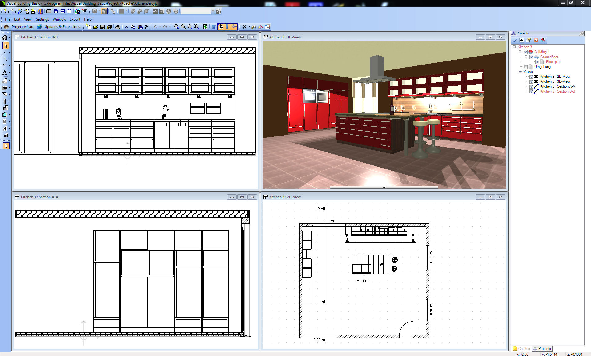 Plan Elevation Section Kitchen : Visual building