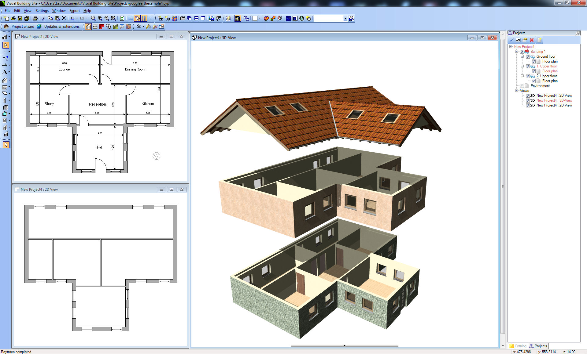 Visual building topic exploded house view 1 1 Home drafting software free