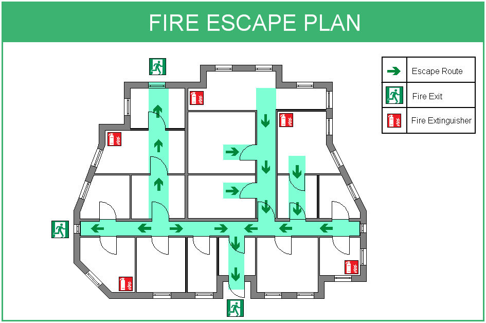 Home fire safety escape plans draw your own escape Home fire safety plan