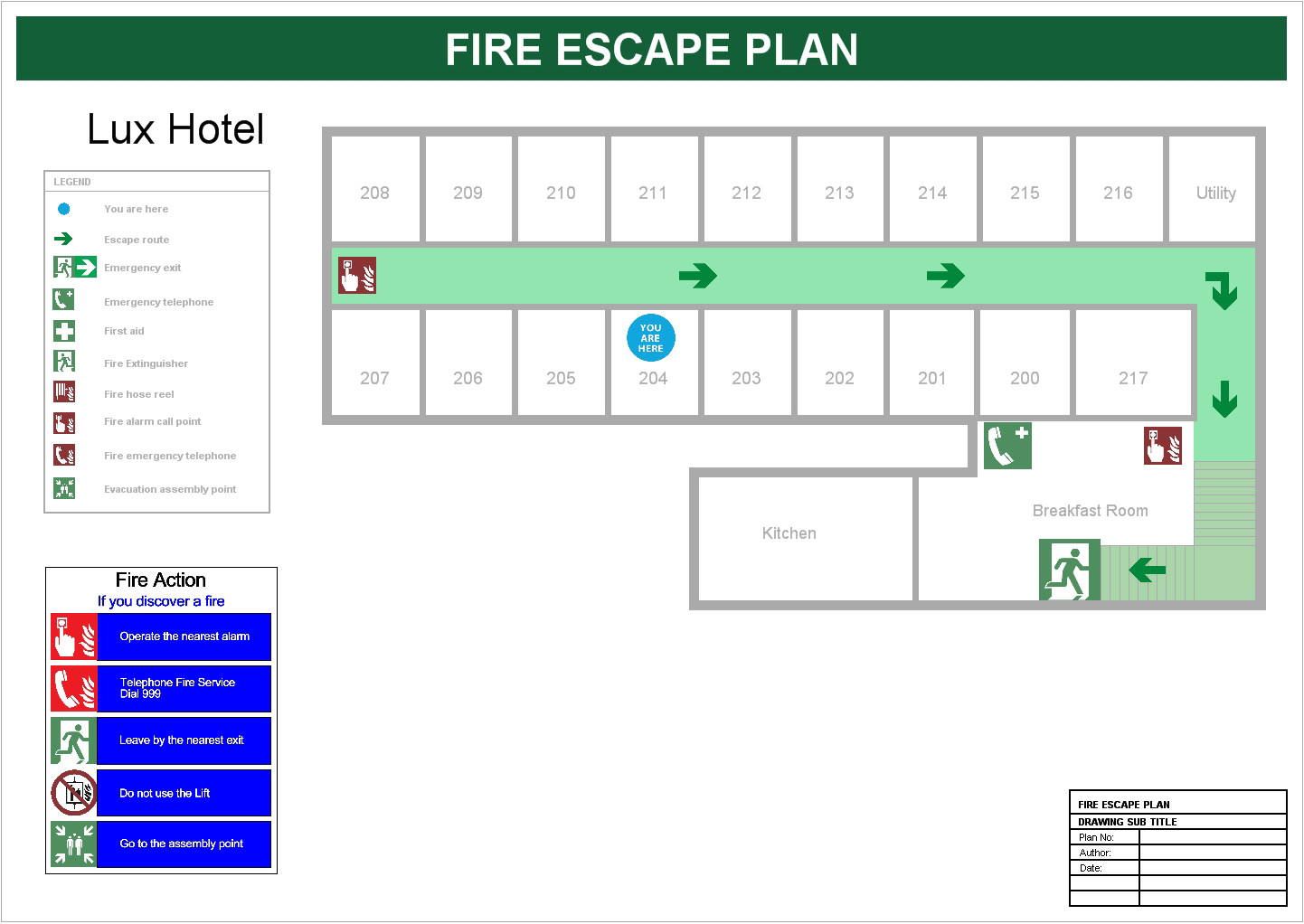 Site map for Fire plans