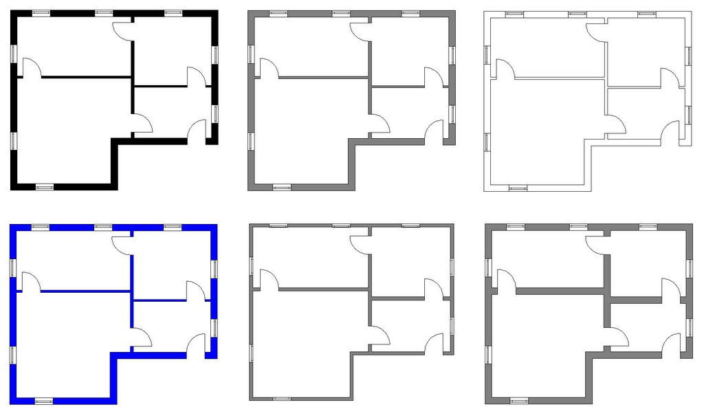Einige Beispiel der zeichnerischen Gestaltung ihrer Grundrisse