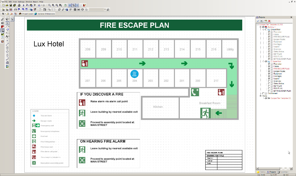 Visual Fire Escape Planner