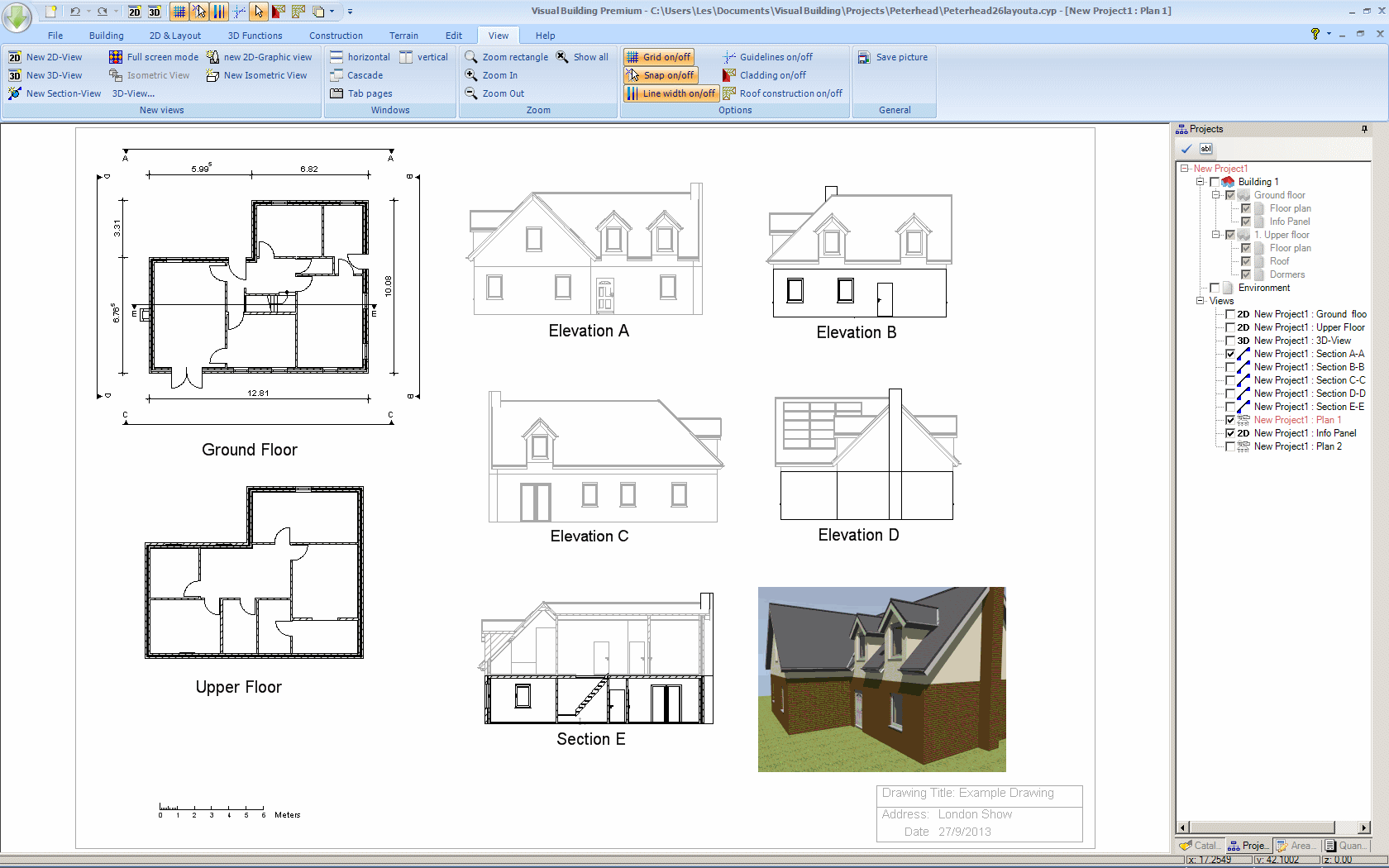 2D Sectional Views