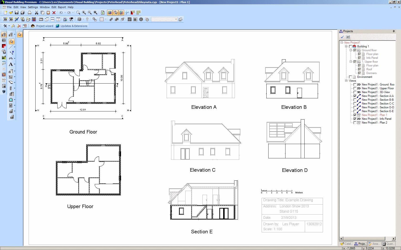 Visual building home Building drawing software
