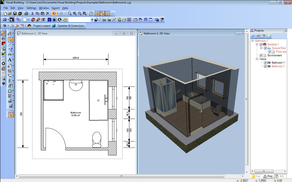 Bathroom designers for Building layout tool