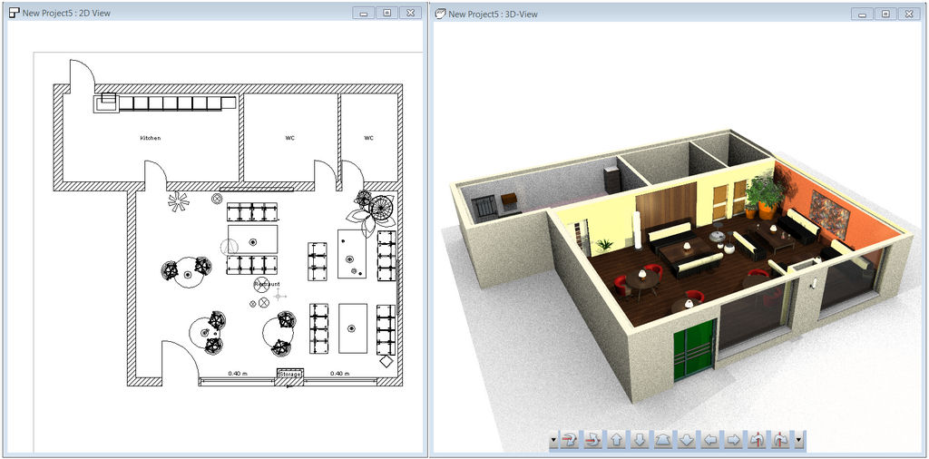 Space planning for Interior design room planner