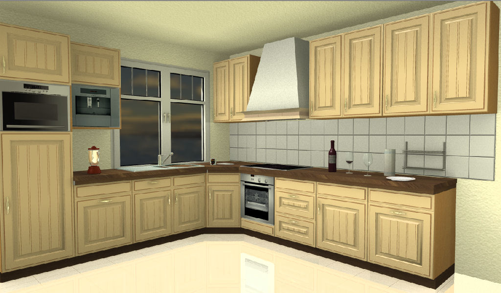 Image. Typical Kitchen Visualisation Project.