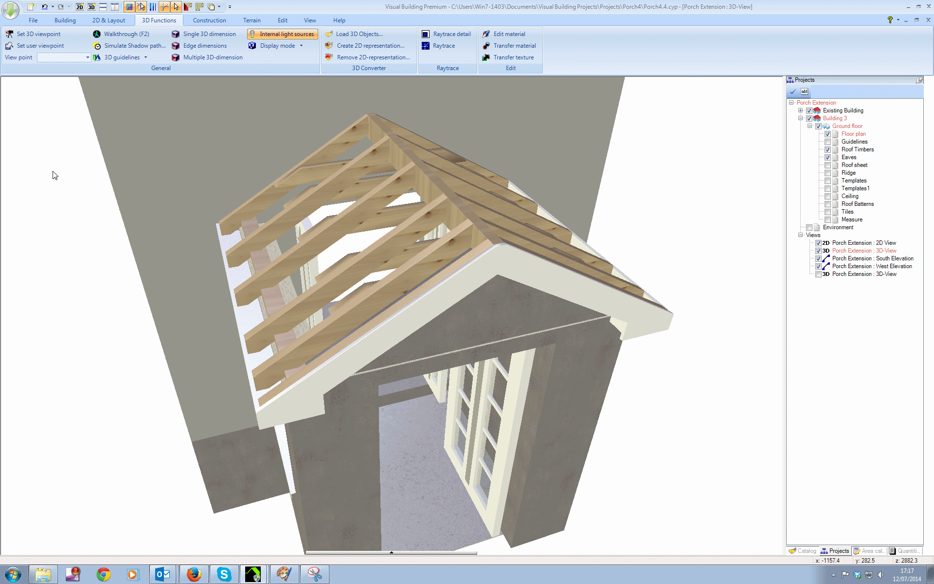 Visual Building Topic Building A Detailed Porch Roof