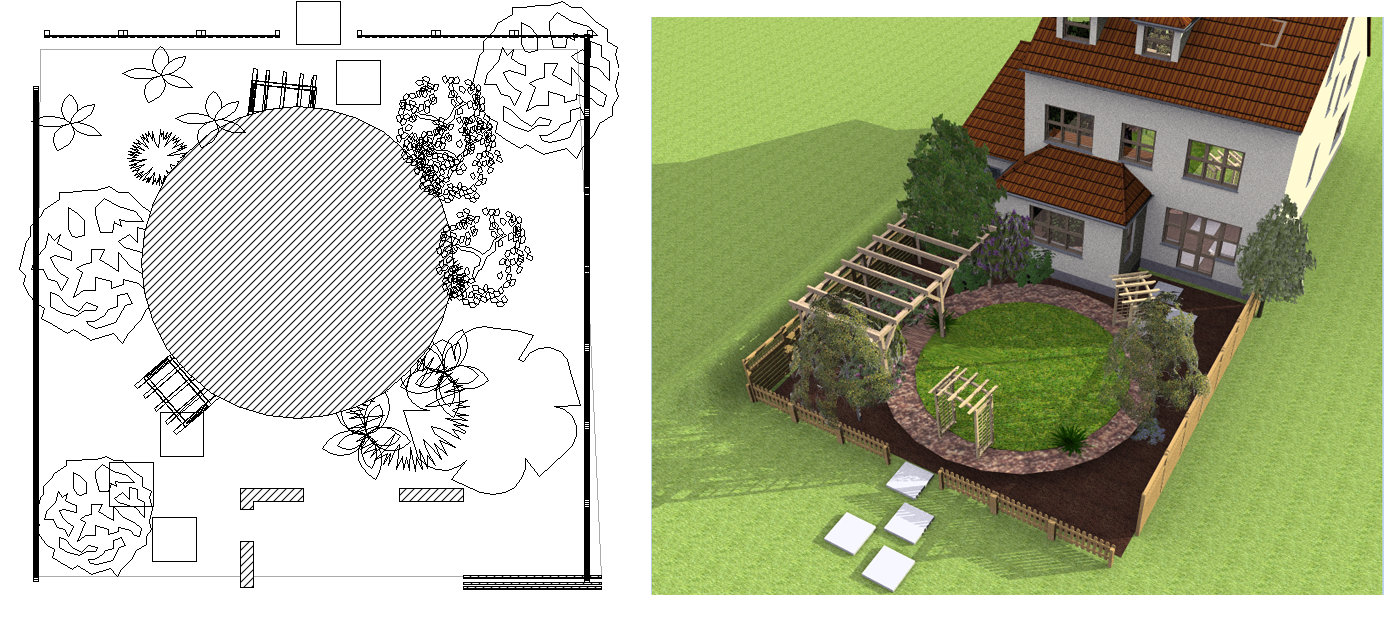 Visual building home for 3d garden designs