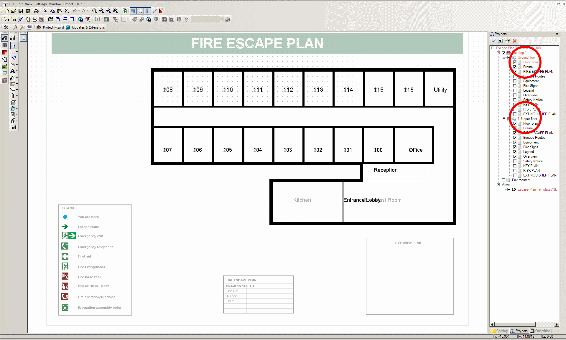 Visual building topic fire escape plan for hotel with for Fire plans
