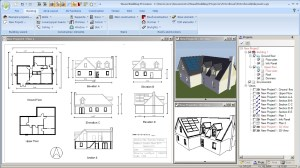 2D and 3D Building Plans, requires Visual Building Pro or Premium
