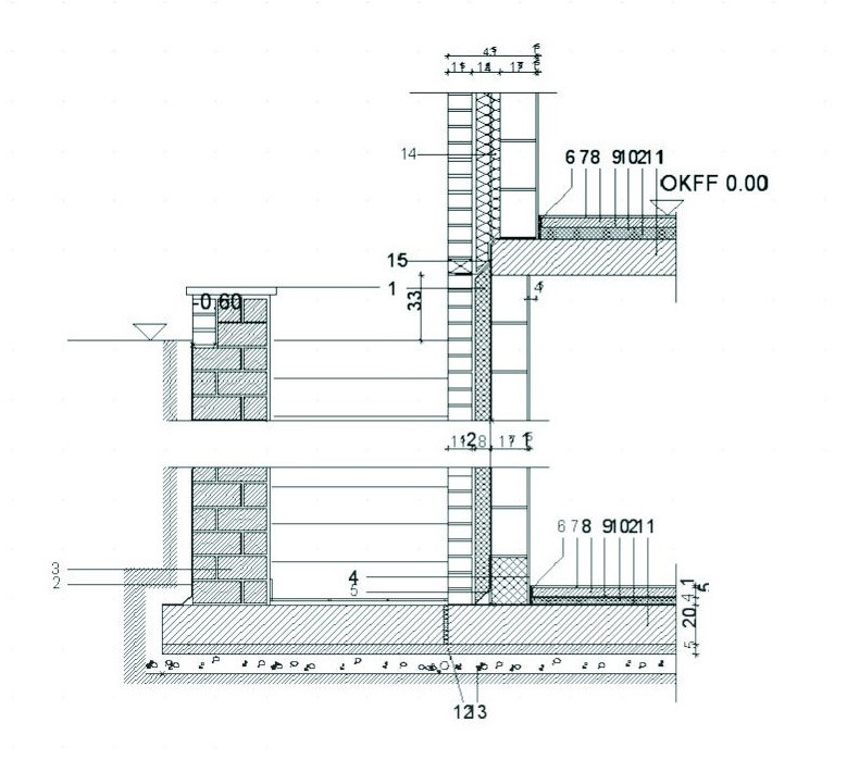 Wall section drawing detail