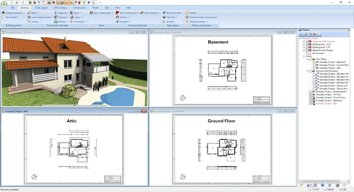 Draw Floor Plans in Visual Building