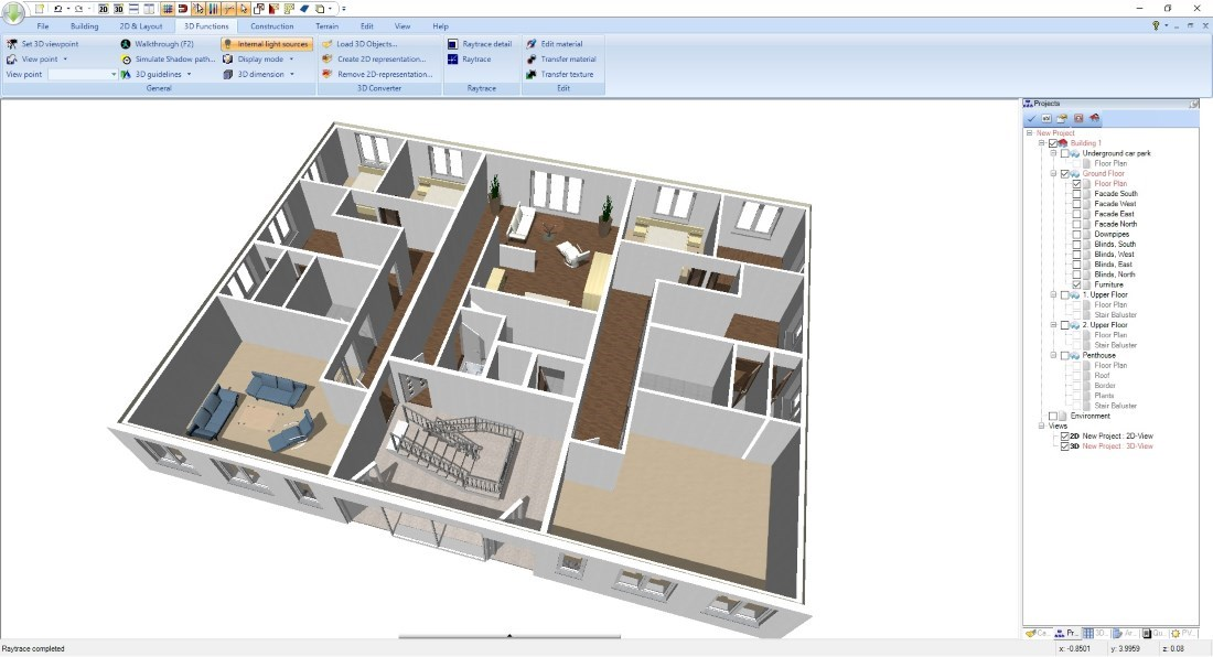 3D Floor Plan Presentation Mode