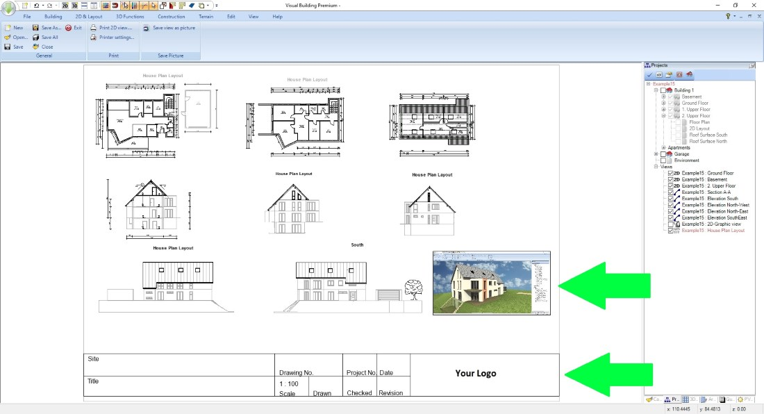 House plans, finishing a plan