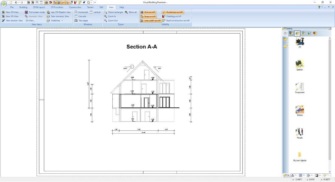 Planning Applications Section View