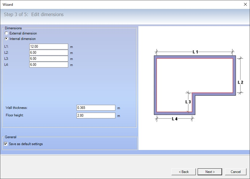 Room planner software, room dimensions