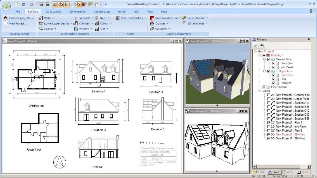 Software for self-builders, example project 1
