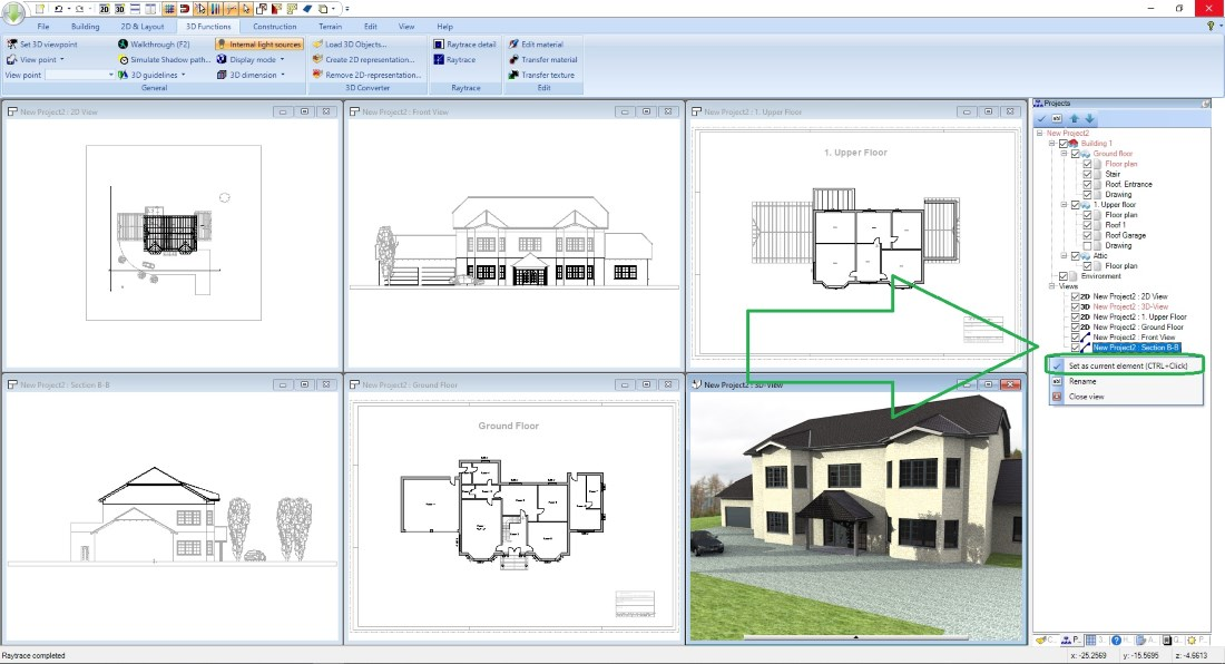 View Handling in Visual Building