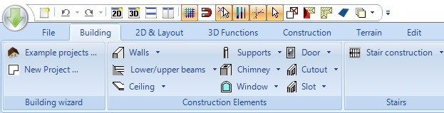 Visual Building Ribbon User Interface