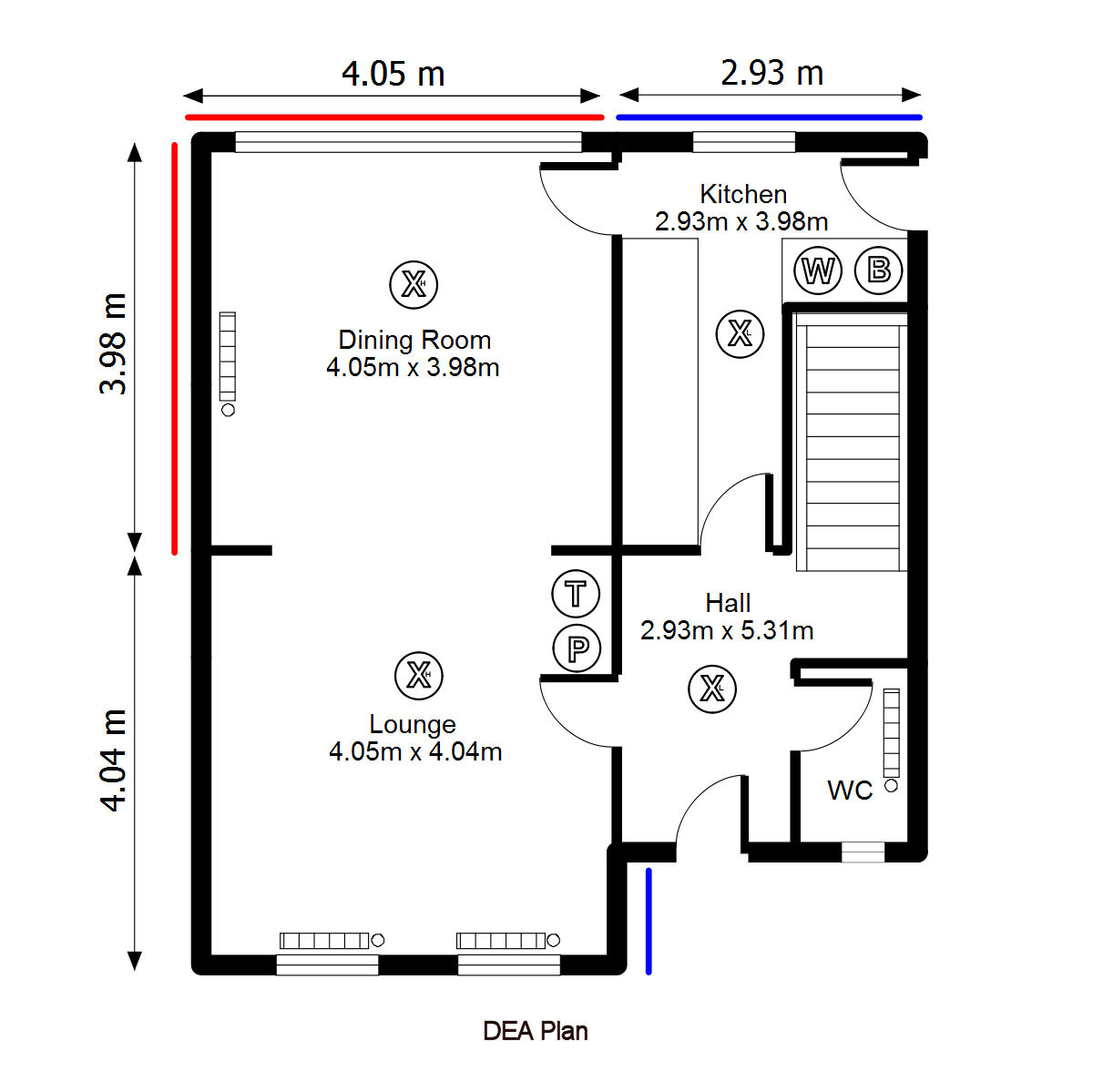 Floor Plan for DEA use created with Visual Floor Planner