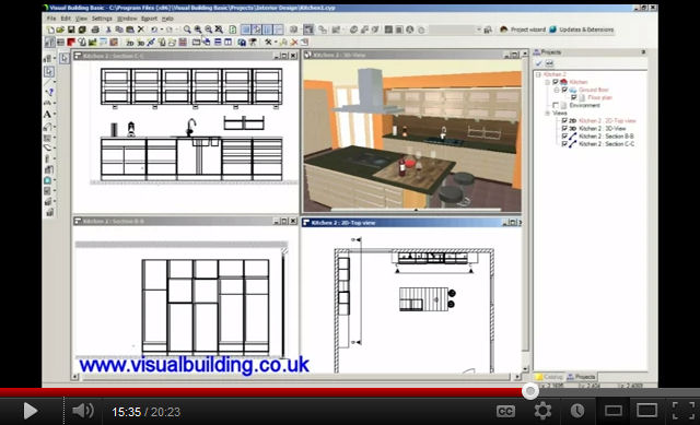 Video 35 - Kitchen design tutorial ...